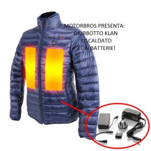 motorbros giacca riscaldata klan everest donna con batterie